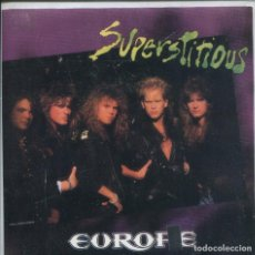 Discos de vinilo: EUROPE / SUPERSTITIOUS (SINGLE PROMO 1988) SOLO CARA A. Lote 142047338