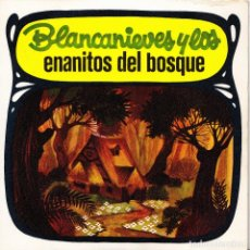 Discos de vinilo: BLANCANIEVES Y LOS ENANITOS DEL BOSQUE - CUENTO EN SINGLE 1968 SPAIN. Lote 142053754