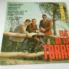 Discos de vinilo: ELS DE LA TORRE, EP, UN COR BOIG (CUORE MATTO) + 3, AÑO 1.967. Lote 142063006