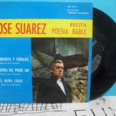 Discos de vinilo: JOSE SUAREZ RECITA POESIA BABLE-1970-DISCOTECA MIGOS DEL BABLE EP . Lote 142065706