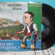 Discos de vinilo: PACHIN EN COVADONGA. MONOLOGO DE JOSE LEON DELESTAL. ARSENIO DIAZ. SINGLE. DISCOTECA AMIGOS DEL BABL. Lote 142067082