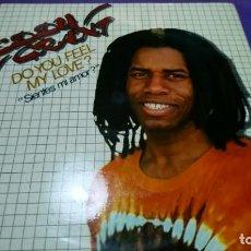 Discos de vinilo: LP VINILO EDDY GRANT DO YOU FEEL MY LOVE? ¿SIENTES MI AMOR? ICE SUPERSINGLE ICE MOVIEPLAY. Lote 142079438
