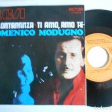 Dischi in vinile: DOMENICO MODUGNO-SINGLE LA LONTANANZA. Lote 142080102
