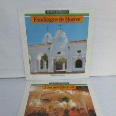 Discos de vinilo: FANDANGOS DE HUELVA. LAS SEVILLANAS. 2 LP VINILO. MAESTROS DEL FLAMENCO. HISPAVOX. Lote 142094806