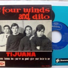 Discos de vinilo: FOUR WINDS AND DITO - TIJUANA + 3 - FREAKBEAT MOD - REGAL 1964. Lote 142120758