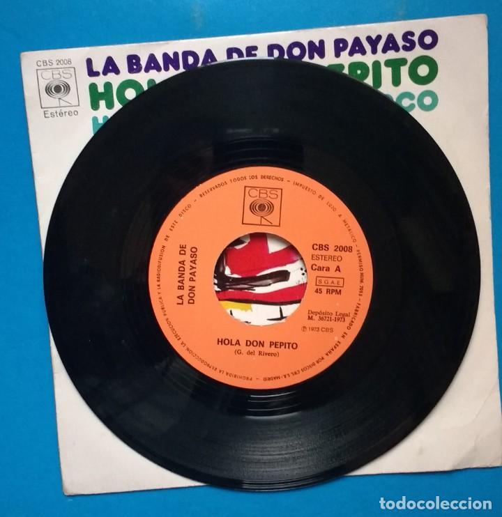 Discos de vinilo: LA BANDA DE DON PAYASO - HOLA DON PEPITO / HABÍA UNA VEZ UN CIRCO - Foto 2 - 142128430