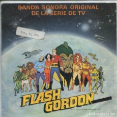 Discos de vinilo: FLASH GORDON (BSO SERIE TV) / FLASH GORDON / FLASH GORDON DEFENSOR (SINGLE PROMO 1980). Lote 142132598