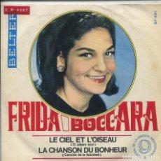 Disques de vinyle: FRIDA BOCCARA / EL PAJARO AZUL / CANCION DE LA FELICIDAD (9 FESTIVAL DE LA CANCION MEDITERRANEA) . Lote 142134958