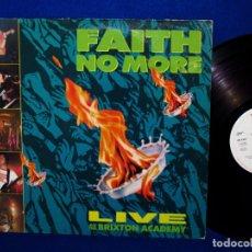 Discos de vinilo: FAITH NO MORE - LIVE AT THE BRIXTON ACADAMY - LP 1991 PRINTED IN HOLLAND -. Lote 142157534
