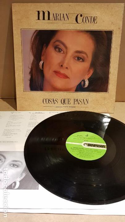 MARIAN CONDE / COSAS QUE PASAN / LP - DIAPASON - 1991 / COMO NUEVO / ***/*** (Música - Discos - LP Vinilo - Flamenco, Canción española y Cuplé)