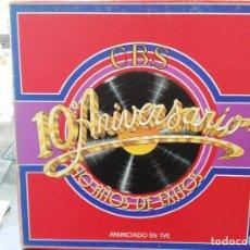 Disques de vinyle: CBS 10º ANIVERSARIO - 10 AÑOS DE ÉXITOS - LP. DEL SELLO CBS DE 1979. Lote 142188866