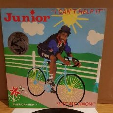 Discos de vinilo: JUNIOR / I CAN'T HELP IT / MAXI SG - MERCURY - 1982 / MBC, ***/***. Lote 142189890