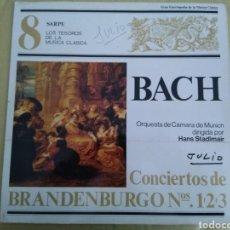 Discos de vinilo: LP BACH/CONCIERTOS DE BRANDENBURGO. Lote 142213385