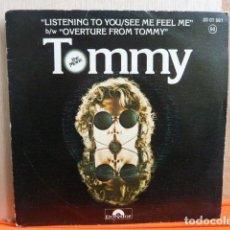 Discos de vinilo: THE WHO -TOMMY -SINGLE-. Lote 142219966