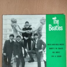 Discos de vinilo: THE BEATLES - ROCK AND ROLL MUSIC, BABY'S IN BLACK, NO REPLY, I'M A LOSER. Lote 142236582
