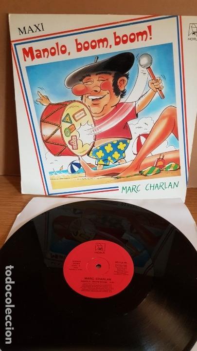 MARC CHARLAN / MANOLO, BOOM, BOOM ! / MAXI SG - HORUS - 1987 / LUJO. ****/**** (Música - Discos de Vinilo - Maxi Singles - Disco y Dance)