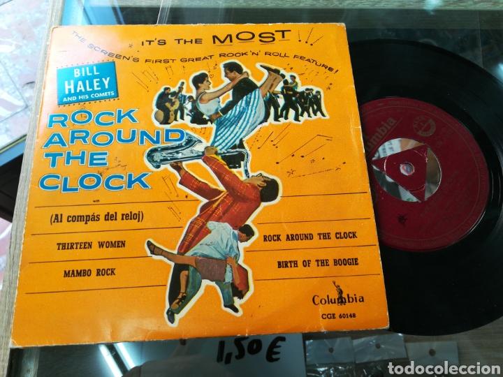 BILL HALEY EP ROCK AROUND THE CLOCK (Música - Discos de Vinilo - EPs - Rock & Roll)
