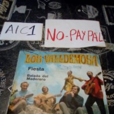 Discos de vinilo: LOS VALLDEMOSA FIESTA BALADA DEL MADEDERO VER FOTOS NOMBRE A BOLÍGRAFO ALGUNA ARRUGA FUNDA. Lote 142255778