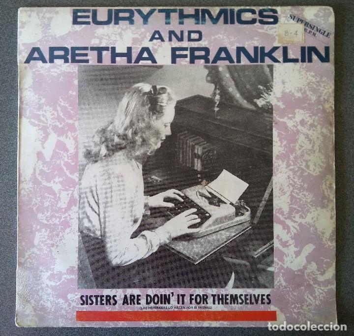 EURYTHMICS AND ARETHA FRANKLIN (Música - Discos de Vinilo - Maxi Singles - Pop - Rock - New Wave Internacional de los 80)
