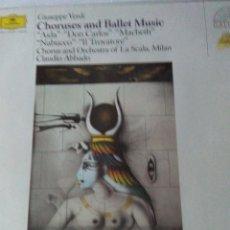 Discos de vinilo: CHORUSES AND BALLET MUSIC .VERDI . Lote 142285066