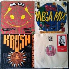 Discos de vinilo: LOTE MAXI SINGLE DANCE HIP HOP MR LEE SNAP KRUSH SHARADA HOUSE GANG. Lote 142285786