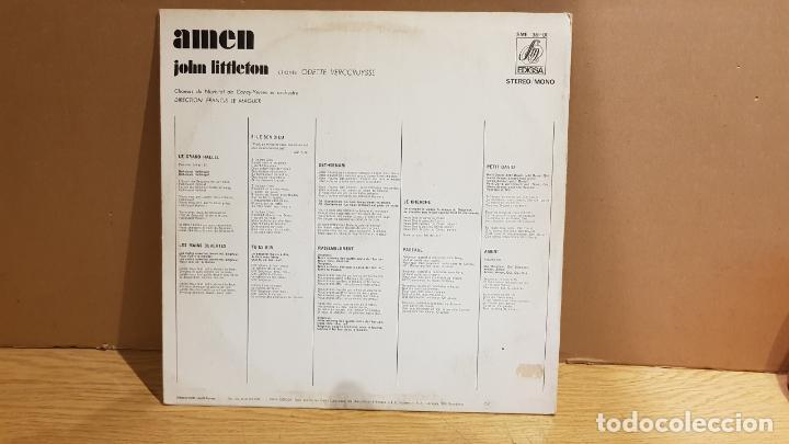 Discos de vinilo: JOHN LITTLETON / AMEN ( ODETTE VERCRUYSSE ) LP - EDIGSA - 1971 / MBC. ***/*** - Foto 2 - 142310570