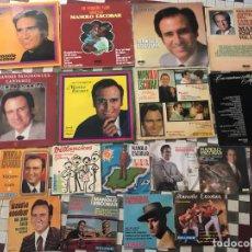 Discos de vinilo: LOTE DE 17 DISCOS DE MANOLO ESCOBAR - ( 8 LPS + 9 SINGLES ). Lote 142315762