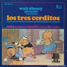 Discos de vinilo: WALT DISNEY PRESENTA EL CUENTO DE LOS TRES CERDITOS - EP DISNEYLAND SPAIN 1967. Lote 142322234