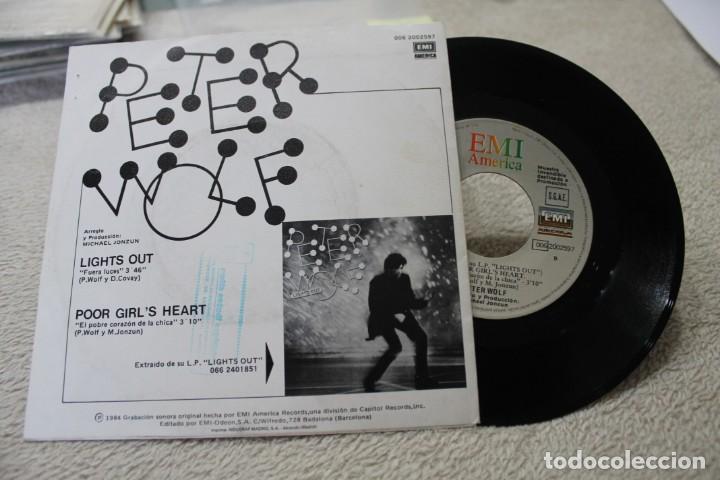 Discos de vinilo: SINGLE PETER WOLF LIGHTS OUTS PROMO 1984 - Foto 2 - 142329854