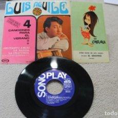 Discos de vinilo: EP LUIS AGUILE 4 CANCIONES PARA EL VERANO SEGUNDA EDICION OH CUANTO AMOR +3 1967. Lote 142330922