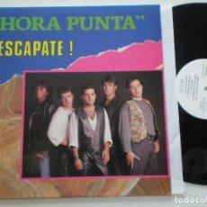 Discos de vinilo: HORA PUNTA - ¡ESCAPATE! - LP YOKO MUSIC 1992. Lote 142338050