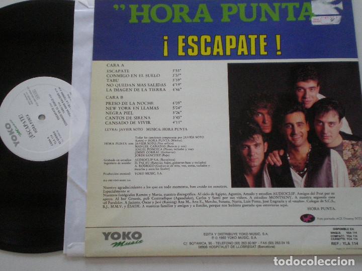 Discos de vinilo: HORA PUNTA - ¡Escapate! - LP YOKO MUSIC 1992 - Foto 2 - 142338050