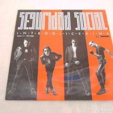 Discos de vinilo: SEGURIDAD SOCIAL_INTROGLICERINA_VINILO LP 12'' EDICION ESPAÑOLA_GASA 1990. Lote 142345770