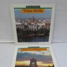 Discos de vinilo: VILLANCICOS FLAMENCOS. TRIANA SEVILLA. 2 LP VINILO. MAESTROS DEL FLAMENCO. VER FOTOS. Lote 142350650
