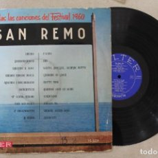 Discos de vinilo: SAN REMO 1960 LP VINY MADE IN SPAIN 1960. Lote 142362594