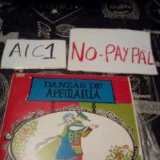 Discos de vinilo: DANZAS DE ALEMANIA. Lote 142363509