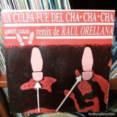 Discos de vinilo: LA CULPA FUE DEL CHA CHA CHA - GABINETE GALIGARI - REMIX DE RAUL ORELLANA. Lote 142370182