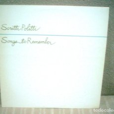 Discos de vinilo: SCRITTI POLITTI - SONGS TO REMEMBER - NUEVOS MEDIOS 1982. Lote 142392358