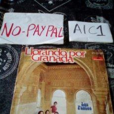 Discos de vinil: LOS PUNTOS LLORANDO POR GRANADA VER FOTOS ESTADO ALGUNA ARRUGA PINTADO A BOLÍGRAFO. Lote 142401662