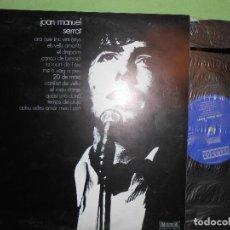 Discos de vinilo: JOAN MANUEL SERRAT EN CATALAN AÑO 1971 CIRCULO DE LECTORES. Lote 142403550