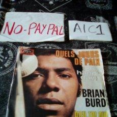 Discos de vinilo: BRIAN BURD QUELS JOURS DE PAX VER ESTADO FUNDA ALGUNA ARRUGA. Lote 142403697