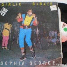 Discos de vinilo: SOPHIA GEORGE - GIRLIE GIRLIE - MAXI SINGLE VICTORIA 1985 // SONIC SOUND DUB DANCEHALL. Lote 142419538