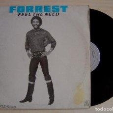 Discos de vinilo: FORREST - FEEL THE NEED - MAXI-SINGLE 45 - ESPAÑOL 1983 - ARIOLA. Lote 142439778