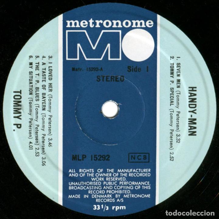 Discos de vinilo: Tommy P. (ex- Rocking Ghosts) – Handy-Man - Lp Denmark 1968 - Metronome MLP 15292 - Foto 3 - 142461950