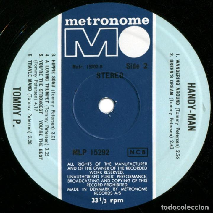 Discos de vinilo: Tommy P. (ex- Rocking Ghosts) – Handy-Man - Lp Denmark 1968 - Metronome MLP 15292 - Foto 4 - 142461950