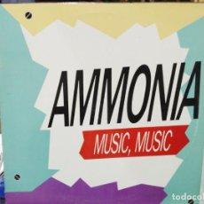 Discos de vinilo: AMMONIA - MUSIC - MAXI SINGLE DEL SELLO MAX MUSIC DE 1991. Lote 219045363