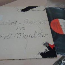 Discos de vinilo: OVIDI MOTLLON SALVAT -PAPASSEIT -LIBRITO Y FOTOS -EDIGSA - 1975- EMI ODEON . Lote 142563246