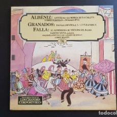 Discos de vinilo: ALBÉNIZ - GRANADOS - FALLA - YEPES - MAAZEL - LP VINILO - GRANDES COMPOSITORES Nº76 - 1982. Lote 142574374