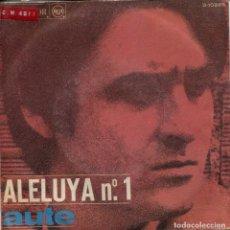 Discos de vinilo: LUIS EDUARDO AUTE / ALELUYA Nº 1 / ROJO SOBRE NEGRO (SINGLE 1967). Lote 142577242