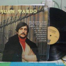 Discos de vinilo: JUAN PARDO. LP PROMOC. SELLO CAUDAL. EDIT EN ESPAÑA. AÑO 1977 PEPETO. Lote 142580758